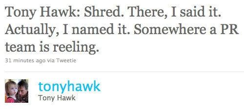 Tony Hawk's Tony Hawk: Shred Outed By Tony Hawk