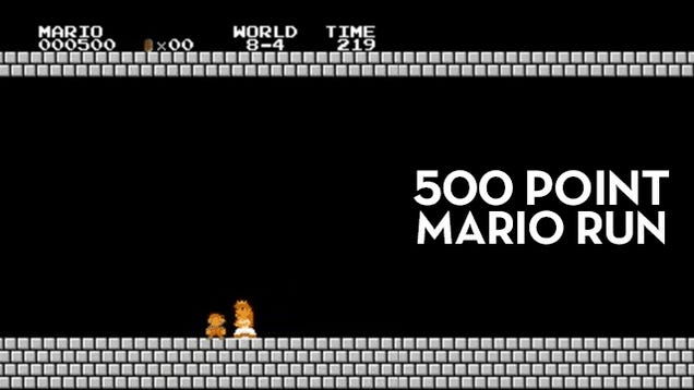 Guy Beats Super Mario Bros. With The Lowest Score Possible