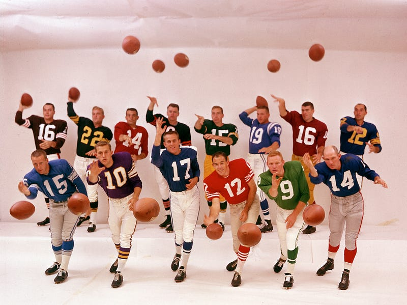 How A Life Photographer Got This Ridiculous Shot Of 14 NFL QBs In 1961