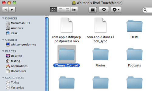 Phone Disk Mounts iPhone, iPod Touch, and iPad as USB Disks in Finder