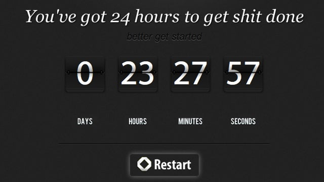 The 24-Hour Countdown Clock Is a Shot in the Arm to Get Things Done