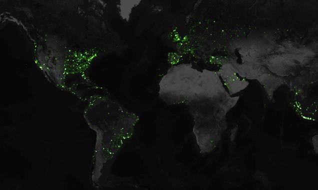 El mapa de Twitter más detallado del mundo: 6.300 millones de tuits