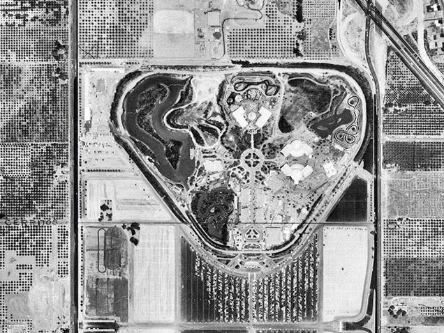 Disneyland From the Air, Then & Now