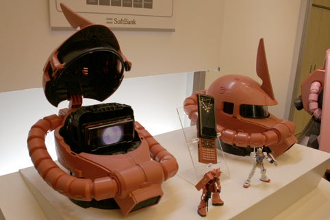 Japan Gets a Zaku 2-Style Helmet Phone from Sharp and Softbank
