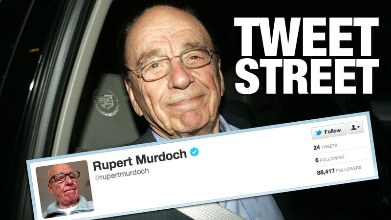 The Five Worst Tweets from Rupert Murdoch's Boring New Twitter Account