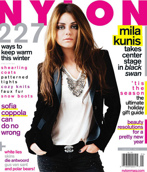 Mila Kunis, The Other Black Swan Star, Covers Nylon