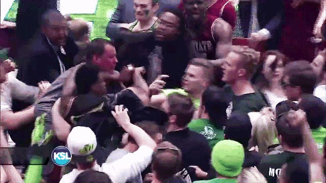 Court-Storming Leads To Fight In Aftermath Of UVU-NMSU Thriller