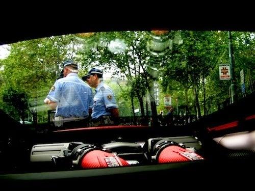 Italian Policemen Being Italian Policemen