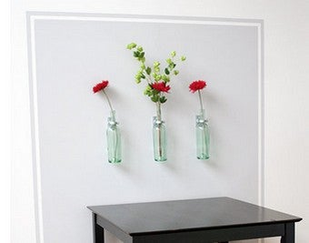 Upcycle Wine Bottles into Wall-Mounted Vases