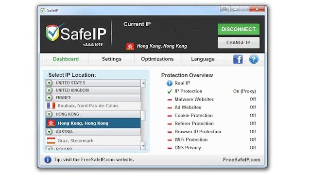SafeIP Hides Your IP Address for Private Browsing, Blocked Media