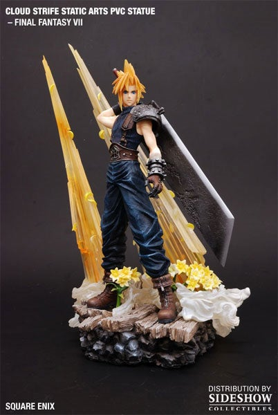 A Sulky, Expensive Cloud Strife Statue