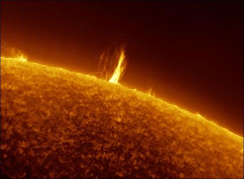 Solar Eruptions Captured By DiY Astronomer
