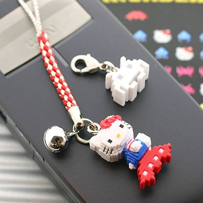Hello Kitty Space Invaders Cell Phone Strap