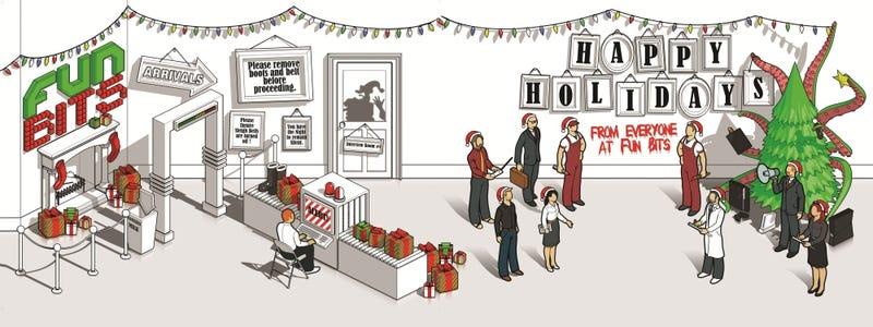 Santa, The TSA and A Happy Holidays From Fun Bits