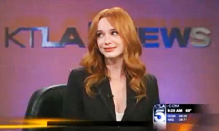 News Anchor Rendered Speechless by Christina Hendricks' Hotness