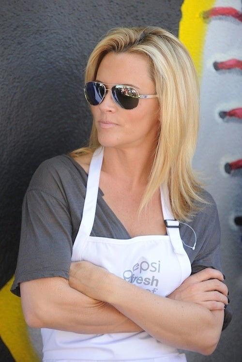 Jenny McCarthy Wears Her Apron With Her Aviators