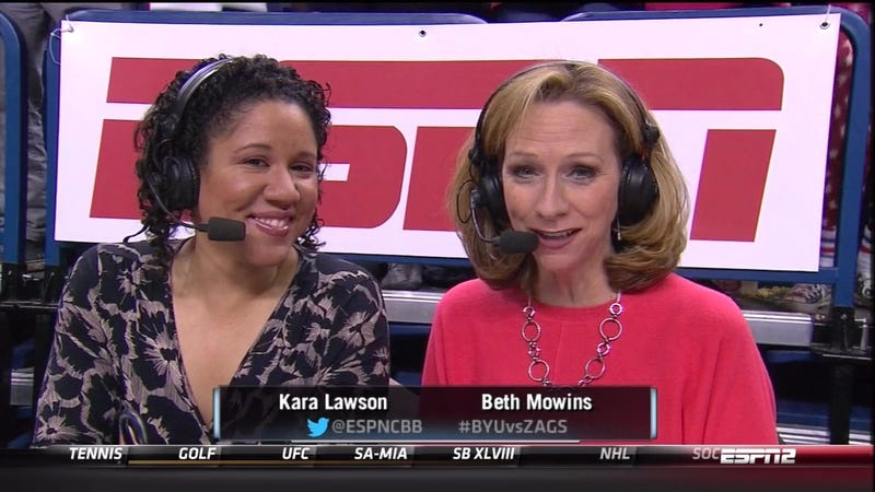 Morons Complain About Female Announcers On ESPN