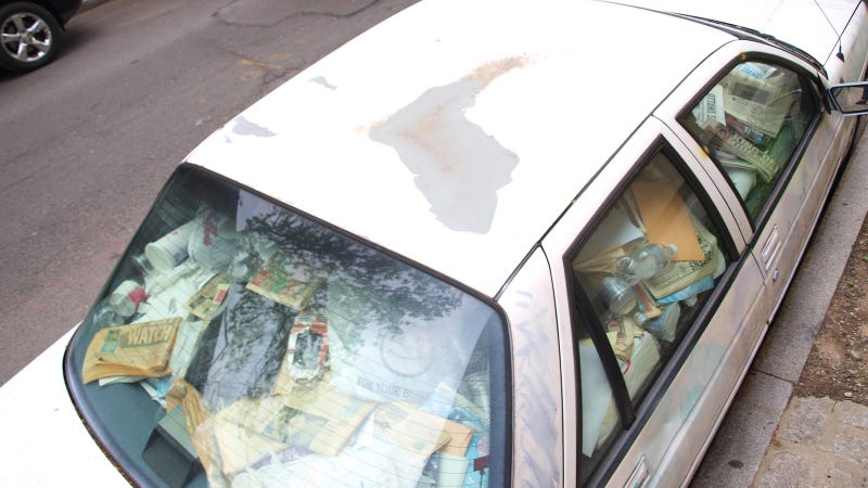 Manhattan's Trash-Filled Chevy Corsica: Photo Gallery
