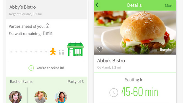 NoWait Tells You the Wait Time at Nearby Restaurants