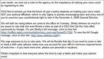 Ad Agency Graciously Allows Staff to Use a Vacation Day to Vote