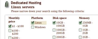 HostMonk Prices and Sorts Web Hosts