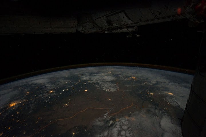 The Southern Lights, As Seen From The International Space Station