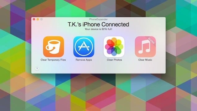 PhoneExpander Quickly Frees Up Storage on Your iOS Device