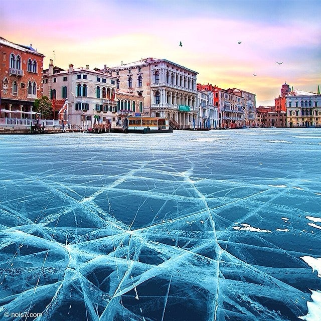 Venice frozen solid looks like a fun place to be