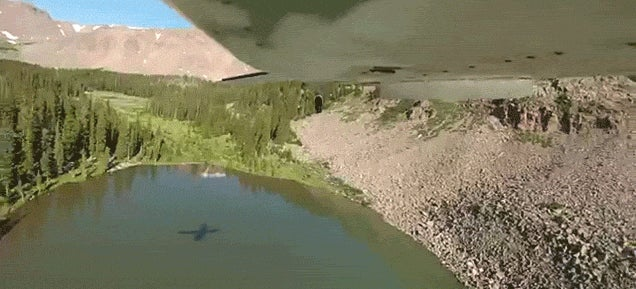 Airplane drops fish bombs to repopulate lake