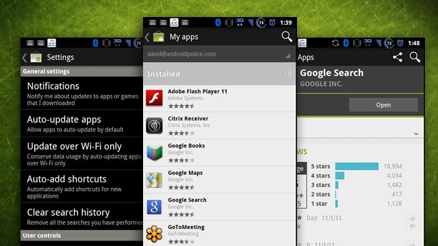 New Android Market Leaks, Adds Auto-Update by Default and Update Over Wi-Fi Only