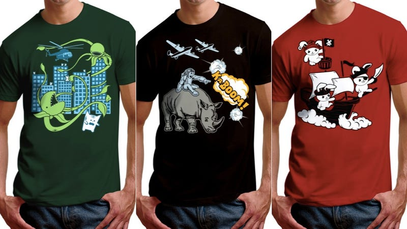Get ready for animal (and plant) uprisings with these t-shirts