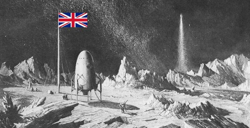 The Union Jack on the Moon