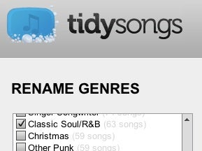 TidySongs Cleans Up Your Music Genres