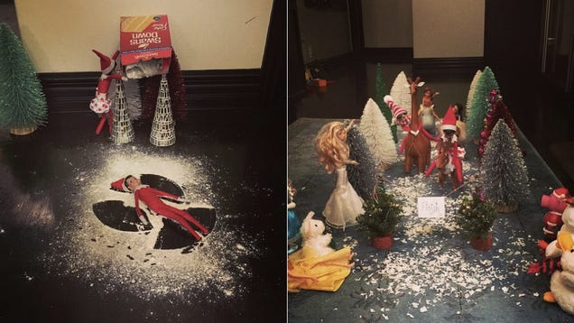 These Elf On The Shelf Scenes Are Absurd And Amazing