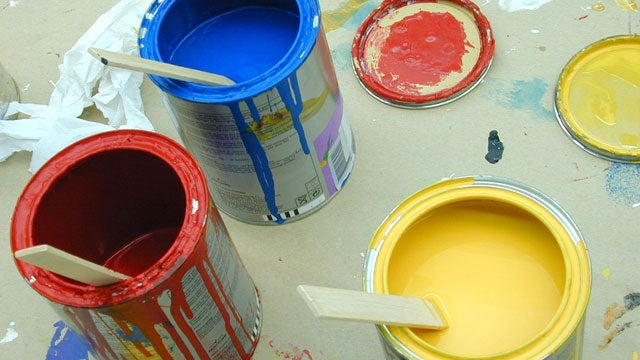 Apply Masking Tape to Prevent Paint Can Lids from Sticking