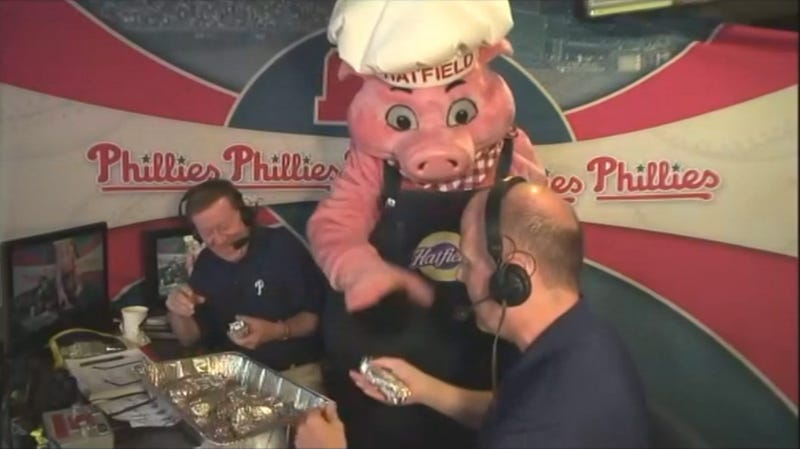 The Hatfield Pig Is Here To Share His Cannibalistic Goodness With Phillies Fans