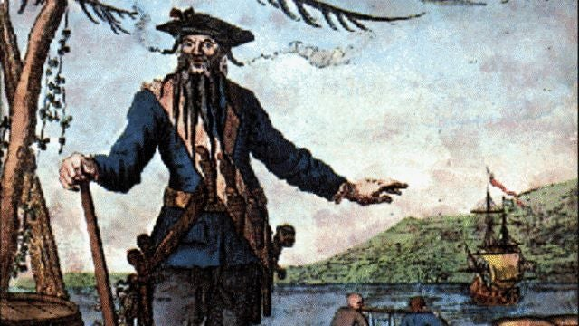 Blackbeard terrorized the high seas with scrap iron missiles