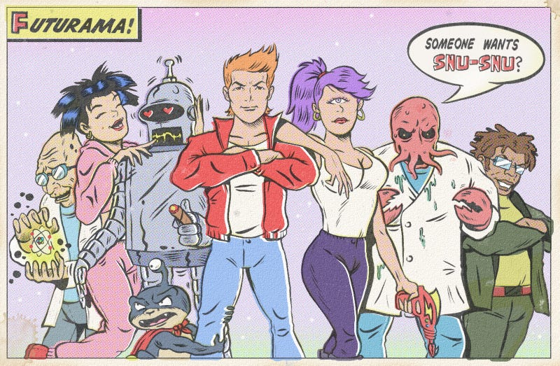 What if Adventure Time and Futurama were retro comic books?