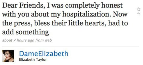 Elizabeth Taylor Accuses Media Of Lying About Her Health Issues