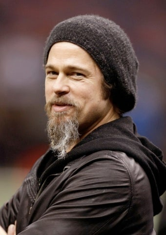 Brad Pitt's Beard Makes a Surprise Appearance at Chateau Brangelina