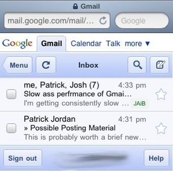 Delete Giant Email Chains to Speed Up Gmail Mobile Webapp