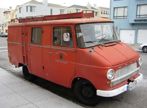 Opel Blitz Fire Truck Woke Up One Morning In... San Francisco?