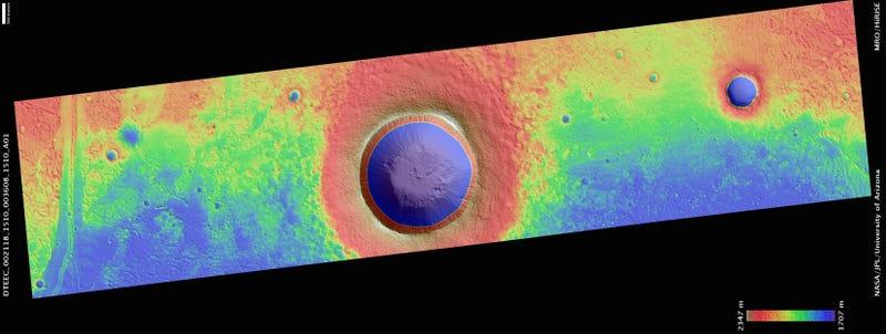 Zumba Crater, Mars