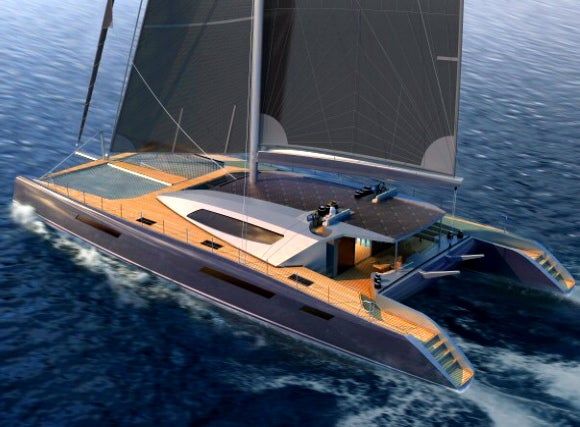 110-Foot Catamaran Comes With a Goddamn Personal Plane and a Launcher