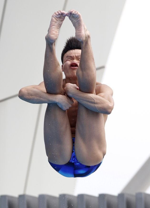 Here's A Gallery Of Some Constipated-Looking Olympic Divers