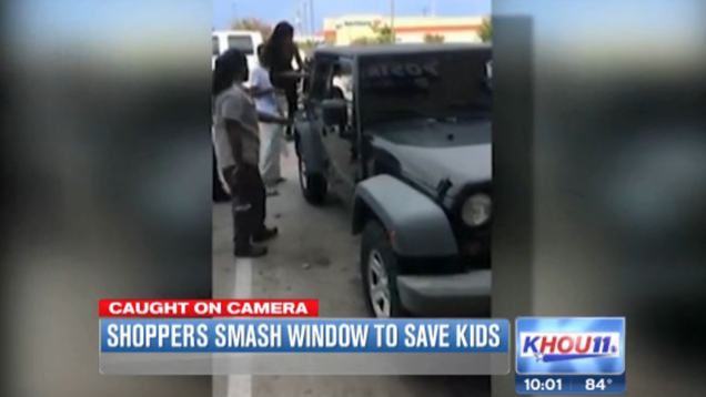 Bystanders Break Windows to Free Kids Trapped Inside Hot Car