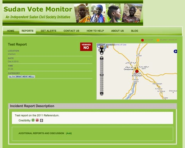 "Sudan's First SMS-Powered Voting Monitor Tracks ""Violence,"" ""Intimidation"""