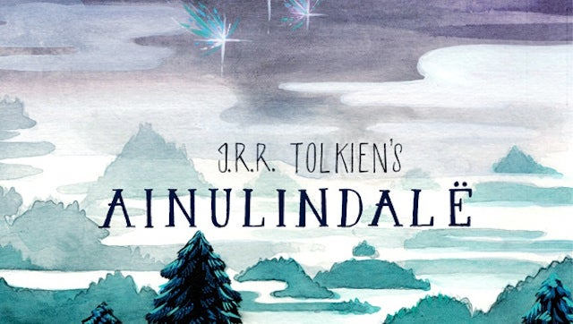 This watercolor comic brings Middle Earth's creation story to life