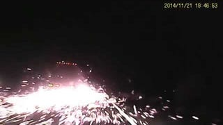 Watch This Truck Turn A Highway Into The Fireworks Show From Hell