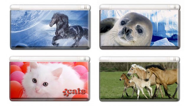 Creep Out Your Nintendo Console With Giant Stickers of Cats. Or Horses. Or Seals.